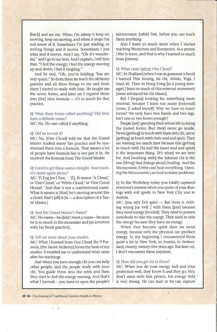 Mantak Chia Interview 4