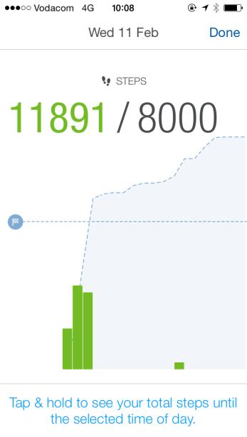 Total steps