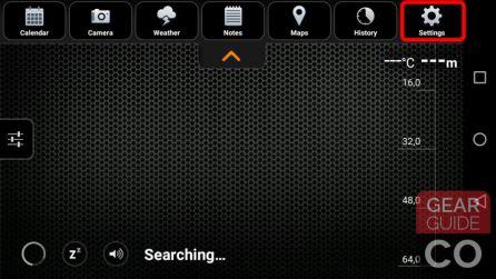 Tap on settings