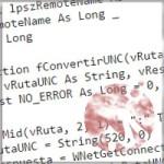 Convertir una ruta a formato UNC con VBA