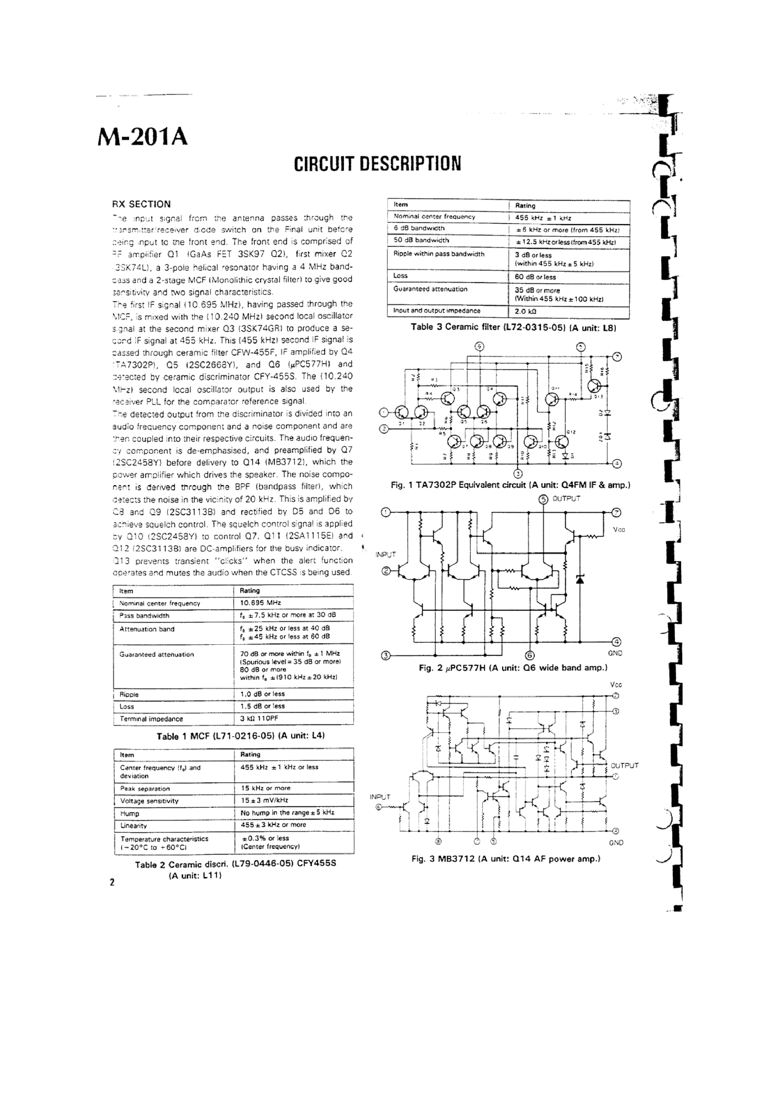 Service Manual For Kenwood Tm 201a