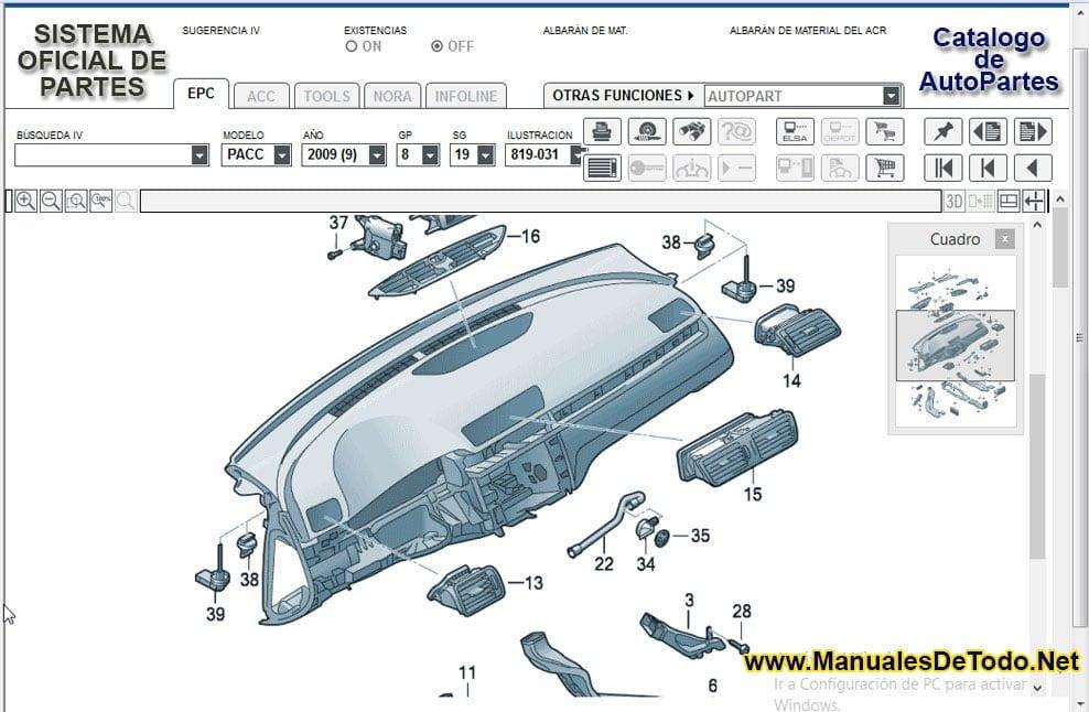 Refacciones para el Motor de Volkswagen Spacefox 2007