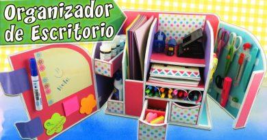 Organizador de escritorio de carton