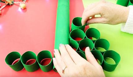 Manualidades recicladas de navidad