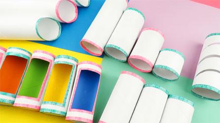 Manualidades con tubo de papel
