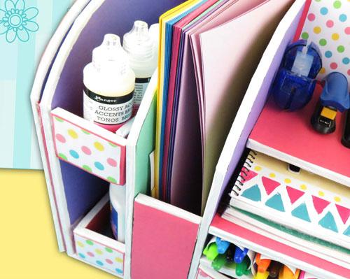 organizador de escritorio para útiles escolares
