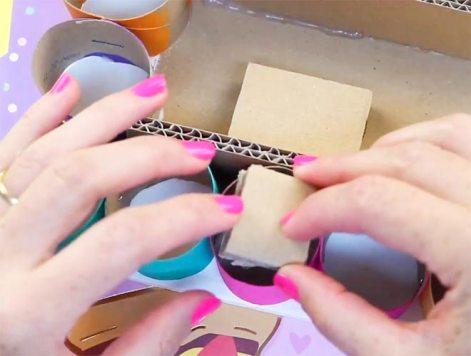 como hacer manualidades con carton