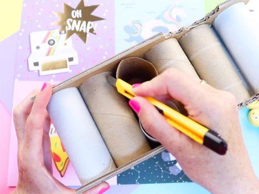 manualidades con rollos de papel higienico vacios