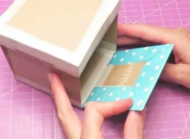 2 Caja de fotos en capas explosiva rosa y oro