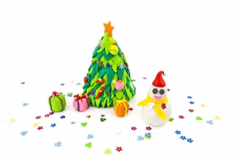 adornos de navidad en porcelana fria
