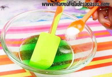 como hacer slime facil