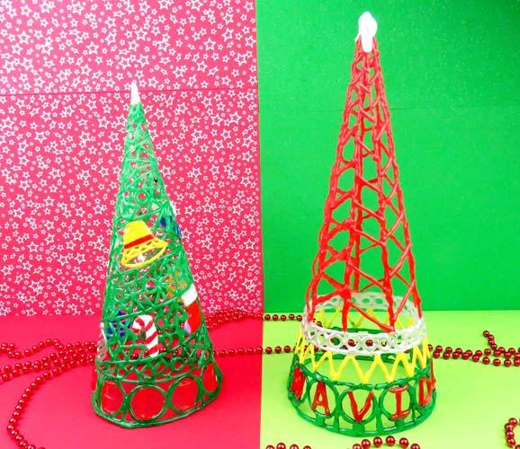 árbol de navidad casero