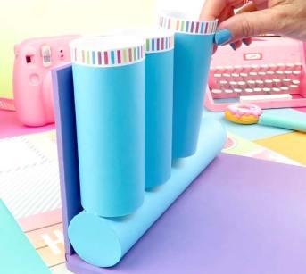 como pegar rollos de papel