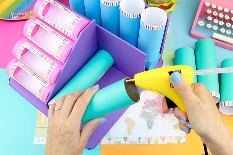 como reciclar tubos de papel
