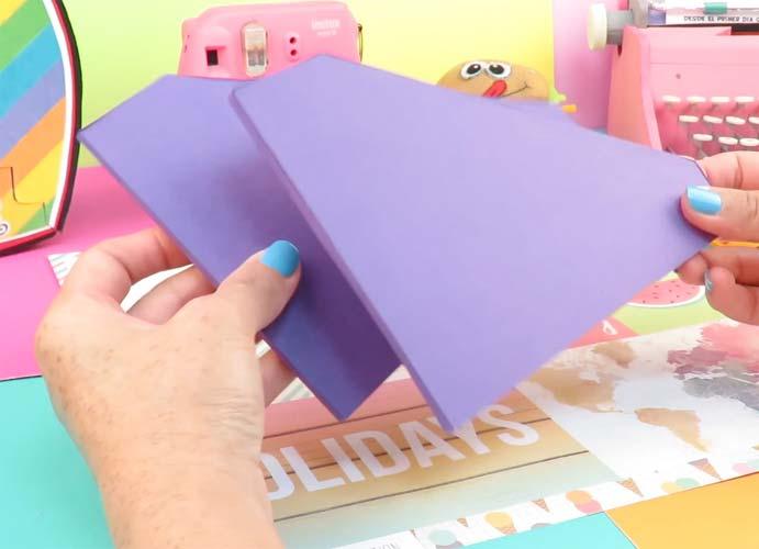 hacer piezas de carton