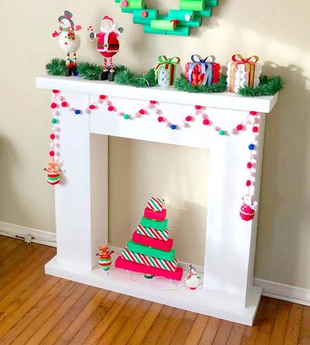 Tarjetas para navidad con material reciclado