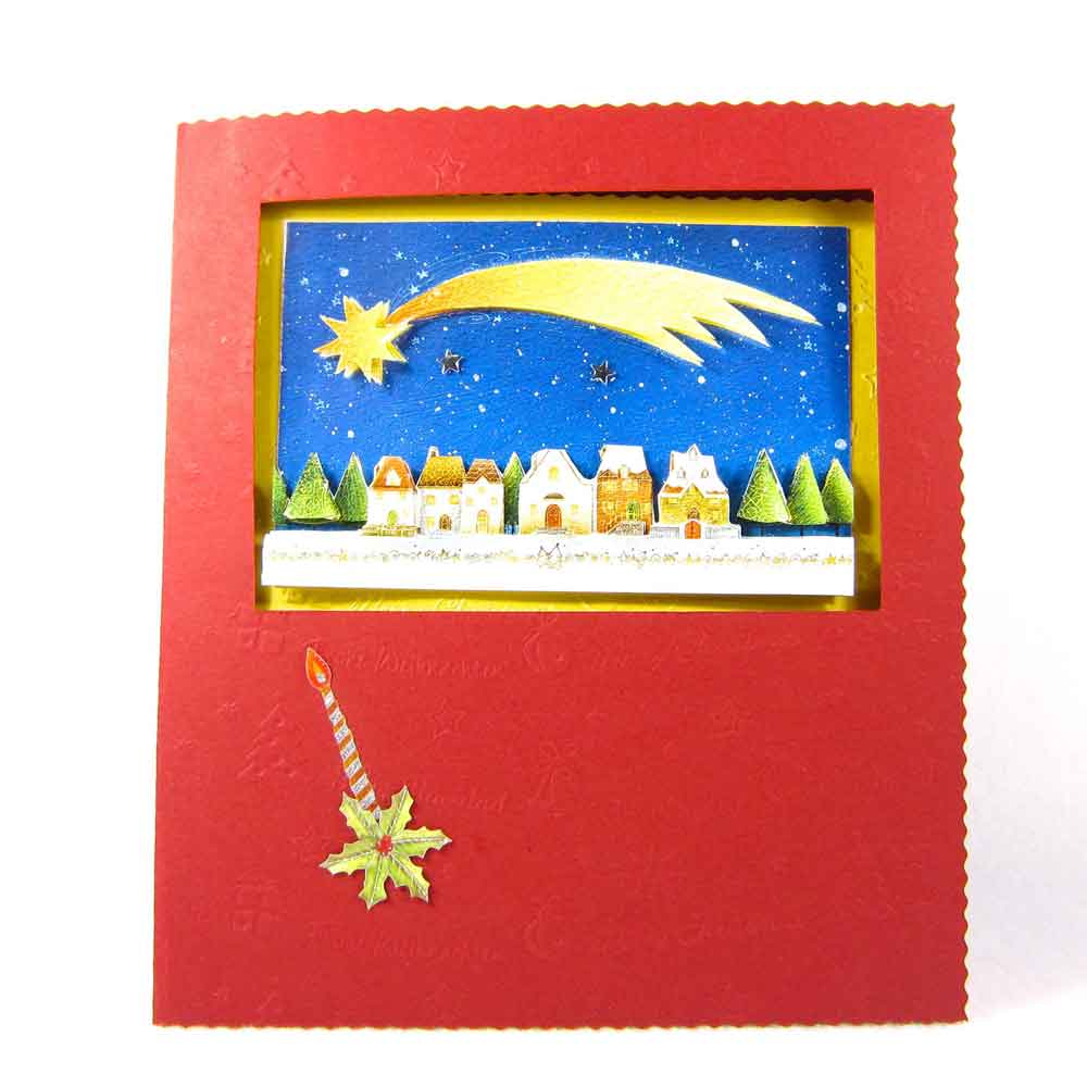 tarjetas de navidad casera