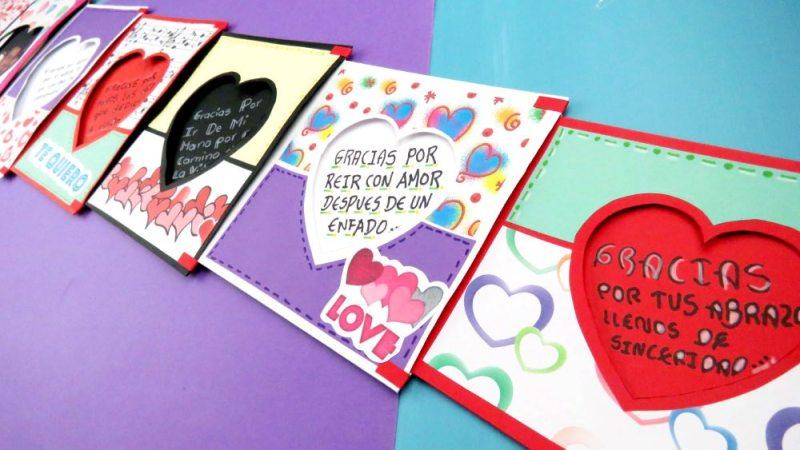 tarjeta corazon expandible paso a paso