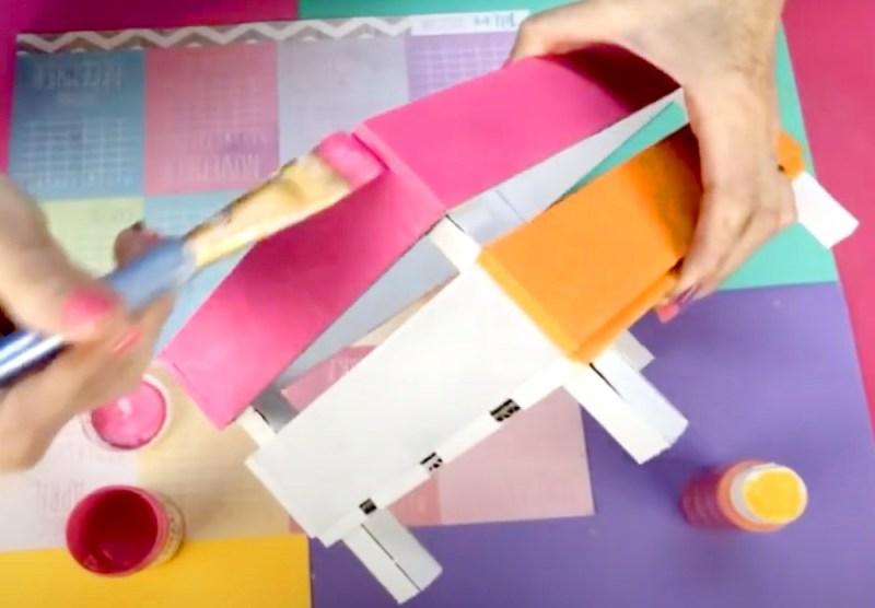 Pintado de cesta de carton