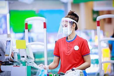 protector facial de plastico