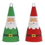Papercraft imprimible y armable de adornos de Papa Noel. Manualidades a Raudales.