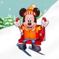 Papercraft imprimible y armable de Mickey esquiador de Disney. Manualidades a Raudales.