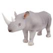 Papercraft de un Rinoceronte Negro. Manualidades a Raudales.