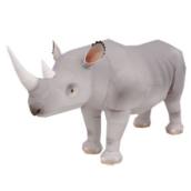 Papercraft imprimible y armable de un Rinoceronte Negro / Black Rhinocero. Manualidades a Raudales.