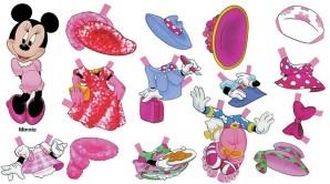 Recortable de Minnie de Disney. Manualidades a Raudales.