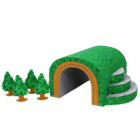 Papercraft imprimible y armable de un Tunel / Tunnel. Manualidades a Raudales.