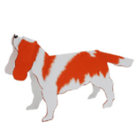 Papercraft del Perro Cavalier. Manualidades a Raudales.