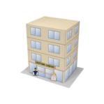 Papercraft imprimible y armable de un Edificio / Building. Manualidades a Raudales.