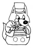 Marioneta dedos del lobo feroz. Manualidades a Raudales.