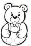 Marioneta dedos de papa oso. Manualidades a Raudales.