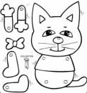 Marioneta de un gato. Manualidades a Raudales.