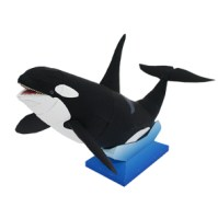 Papercraft imprimible y armable de una Orca. Manualidades a Raudales.