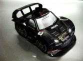 Papercraft imprimible y armable del coche Rockstar Dome NSX 2009. Manualidades a Raudales.