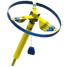 Papercraft imprimible y armable de un Volador helicóptero amarillo. Manualidades a Raudales.