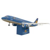 Papercraft imprimible y armable del avión Airbus 320 Vietnam. Manualidades a Raudales.