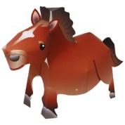 Papercraft imprimible y armable de un caballo / horse. Manualidades a Raudales.