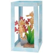 Papercraft imprimible y armable de un Acuario con Caballitos de Mar / Aquarium: Seahorse. Manualidades a Raudales.