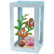 Papercraft imprimible y armable de un Acuario con Peces Payaso / Aquarium: Clown Fish. Manualidades a Raudales.