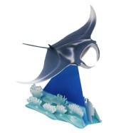 Papercraft imprimible y armable de un pez manta. Manualidades a Raudales.