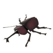 Papercraft imprimible del Escarabajo Rinoceronte Infantil. Manualidades a Raudales.