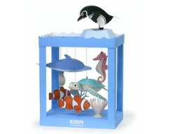 Papercraft recortable de un acuario infantil. Manualidades a Raudales.