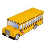 Papercraft imprimible del Autobús escolar / school bus. Manualidades a Raudales.