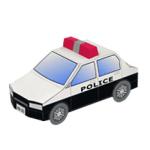 Papercraft del Coche de policía. Manualidades a Raudales.