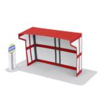 Papercraft imprimible y armable de la parada autobús. Manualidades a Raudales.