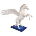 Papercraft imprimible y armable del caballo Pegaso. Manualidades a Raudales.