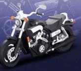 Papercraft recortable de la motociceta Yamaha VMAX 1990. Manualidades a Raudales.